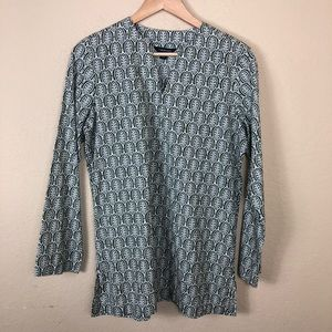 Like new Lands' End leaf patterned tunic top S